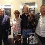 Con Marco Parodi (regista), Giorgio Crisafi (attore) e Stefano Simoncelli (poeta)