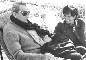 Lilla Brignone con Luchino Visconti