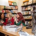 La pittrice Barbara Spatuzzi, Maria Grazia Salpietro e Chiara Ricci