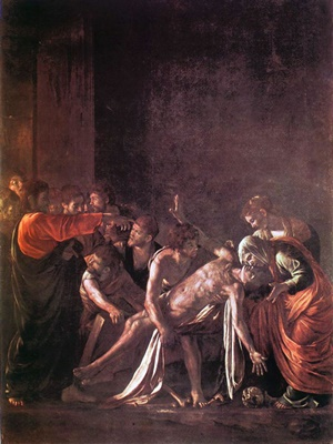 """""""Resurrezione di Lazzaro"""" di Caravaggio (1609)"""