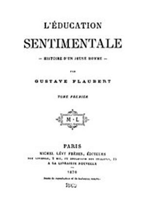 """""""L'educazione sentimentale"""" di Gustave Flaubert (Michel Lévy, Parigi )1870"""