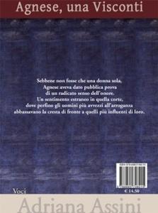 """Retrocopertina di """"Agnese, una Visconti"""" di Adriana Assini (Scrittura & Scritture)"""