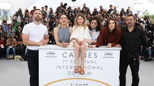 Il cast di Angel Face al Festival di Cannes