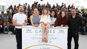 Il cast di Angel Face al Festival di Cannes