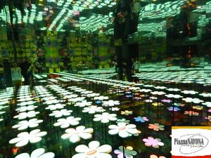 """L'installazione """"floreale"""" all'interno della mostra """"Andy Warhol"""" (Ph. Chiara Ricci)"""