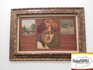 "Giacomo Balla, ""Modella tra due paesaggi"", 1905 (Ph. Chiara Ricci)"