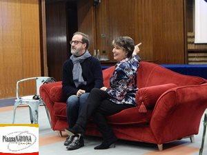 Il Direttore di Rai Tre Stefano Coletta e Serena Dandini (Ph. Chiara Ricci