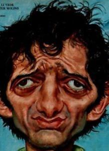 Bruno Cirino nella caricatura di Walter Molino