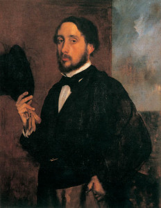 "Edgar Degas, ""Autoritratto"""