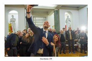 Selfie con tutti gli ospiti (Ph. Gino Aloisio)