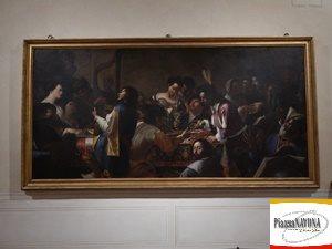"""Mattia e Gregorio Preti, """"Concerto con scena di buona ventura (Allegoria dei cinque sensi)"""" 1630 - 1635, Ph. Chiara Ricci"""