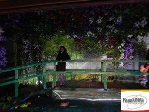 """Chiara Ricci alla mostra""""Gli Impressionisti francesi – Da Monet a Cézanne"""" (Ph. rubrica online """"Piazza Navona"""")"""