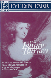 "Evelyn Farr, ""The world of Fanny Burney"" (Peter Owen, 1993)"