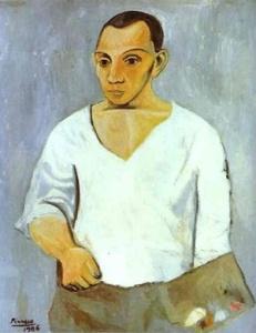 """""""Autoritratto con tavolozza"""", Pablo Picasso (1906)"""