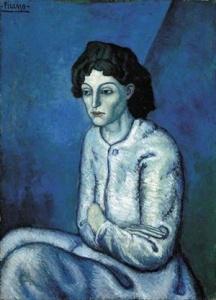"""""""Donna con le braccia incrociate"""", Pablo Picasso (1901)"""