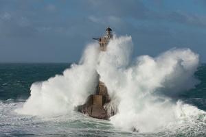 Il faro di Four durante la tempesta Fionn (Per gentile concessione di Jean Guichard)