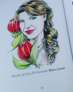 """Ritratto di  Lisa Di Giovanni di Marco Sciame ne """"Il Tulipano Rosso"""""""