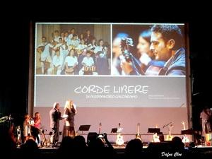 Il Maestro Alessandro Calcaramo e il gruppo musicale Corde Libere ricevono il Premio Nazionale Demetra 2019 - Sezione Musica (Ph. Dafne Cloe, per gentile concessione di Alessandro Calcaramo)