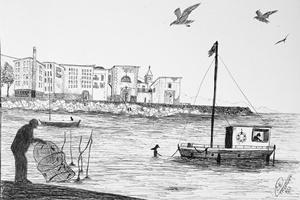 """Eduardo Orma, """"Pescatori al porto"""", 2015"""