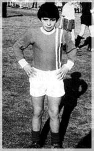 Un giovanissimo Diego Armando Maradona