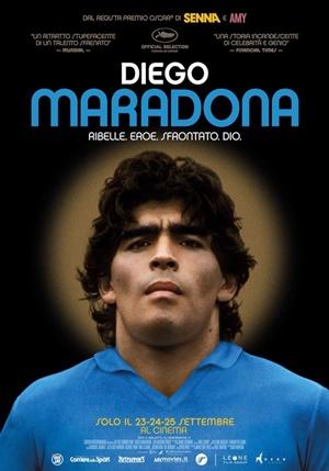 "La locandina del film ""Diego Maradona"" di Asif Kapadia"