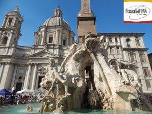 La Fontana dei Fiumi e la Basilica di Sant'Agnese in Agone - Piazza Navona (Ph. Chiara Ricci)