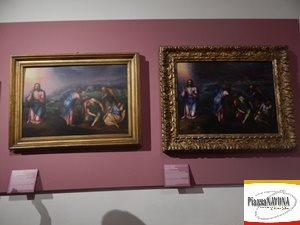 """A sinistra: Marcello Venusti, """"L'Orazione nell'orto"""", olio su tavola, 1565-1571 (Roma, Gallerie Nazionali di Arte Antica, Palazzo Barberini). A destra:  Marcello Venusti, """"L'Orazione nell'orto"""", olio su tavola, 1565-1570 (Spoleto, Fondazione Marignoli di Montecorona) - Ph. Chiara Ricci"""