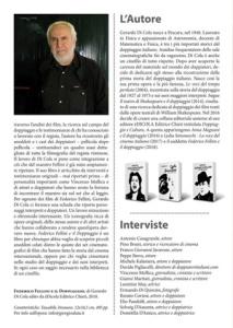 """Un articolo dedicato a Gerardo Di Cola e al suo libro """"Federico Fellini e il doppiaggio"""" di Gerardo Di Cola (èDICOLA, 2018)"""