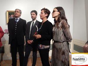 Massimo Pirondini, Yuri Primarosa, Flaminia Gennari Santori e Francesca Parrilla durante la conferenza stampa (Ph. Chiara Ricci)