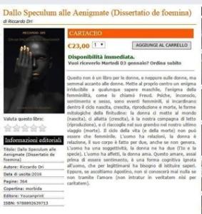 """Riccardo Dri, """"Dallo Speculum alle Aenigmate (Dissertatio De Foemina) - Youcanprint, 2016"""