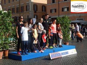 """I vincitori della """"Mamma Run"""" - """"Atletica Insieme"""" a Piazza Navona (Ph. Chiara Ricci)"""