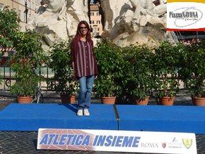 "Chiara Ricci ad ""Atletica Insieme"" a Piazza Navona"