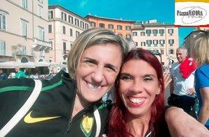 """Antonietta Di Martino e Chiara Ricci ad """"Atletica Insieme"""" a Piazza Navona"""