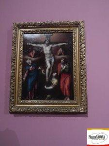 """Marcello Venusti, """"Cristo crocifisso vivo con la Madonna, san Giovanni e Maria Maddalena ai piei della croce"""", olio su rame post 1550 - Roma collezione privata (Ph. Chiara Ricci)"""