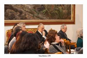 """Lo scrittore Riccardo Dri durante la Cerimonia di Premiazione del Premio Letterario Nazionale """"EquiLibri"""" - edizione 2018"""