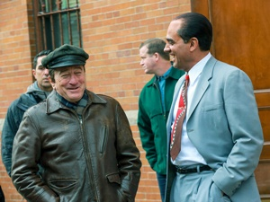 "Robert De Niro e Bobby Cannavale sul set del film ""The Irishman"" di Martin Scorsese"