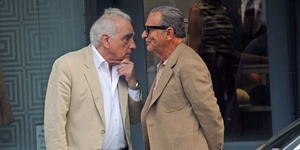 "Martin Scorsese e Joe Pesci sul set di ""The Irishman"""
