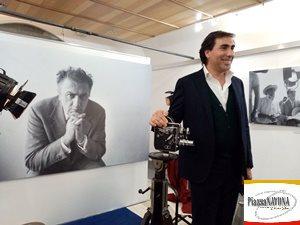 """Simone Casavecchia all'inaugurazione della mostra """"Federico Fellini"""" (Ph. Chiara Ricci)"""