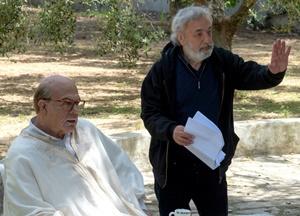 "Pierfrancesco Favino e Gianni Amelio sul set di ""Hammamet"""