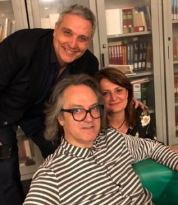 Antonella Orefice con Maurizio Di Giovanni e Gigi Marzullo