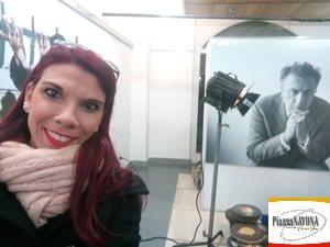 """Chiara Ricci all'inaugurazione della mostra """"Federico Fellini"""" (Ph. Chiara Ricci)"""