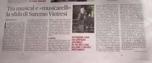 """Articolo dedicato a """"Saranno Vietresi"""" apparso ne """"Il Mattino"""", 25 novembre 2019"""