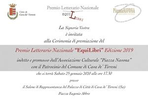 """Invito alla Cerimonia di premiazione del Premio Letterario Nazionale """"EquiLibri"""" - Edizione 2019"""