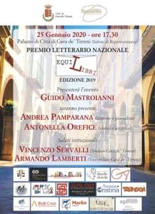 """Guido Mastroianni presenta la Cerimonia di premiazione del Premio Letterario Nazionale """"EquiLibri"""" Edizione 2019 (Grafica Giovanni Della Valle)"""