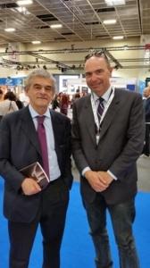 Marco Severini con il governatore Chiamparino al Salone del Libro di Torino,  2015 (Per gentile concessione del Professor Marco Severini)