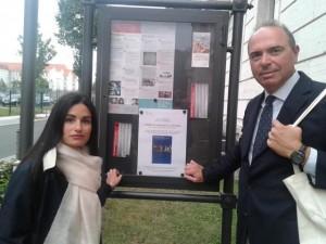 Marco Severini e Lidia Pupilli alla presentazione del libro da loro curato a Berlino presso l'Istituto Italiano di Cultura - settembre 2016 (Per gentile concessione del Professor Marco Severini)