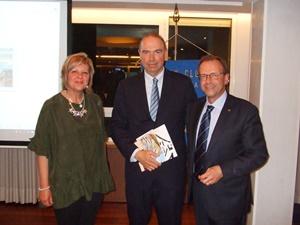 Il Professor Marco Severini con il presidente del Rotary di Senigallia e signora, 2016 (Per gentile concessione del Professor Marco Severini)